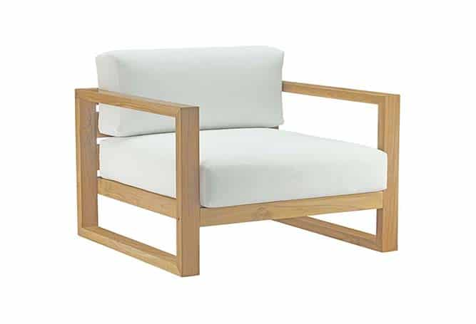 Upla Occasional Chair - Teak White