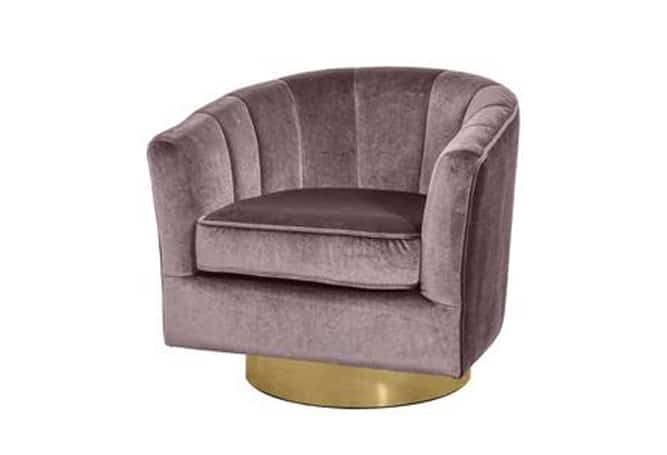 Cassi Occasional Chair-Pewter/Gold