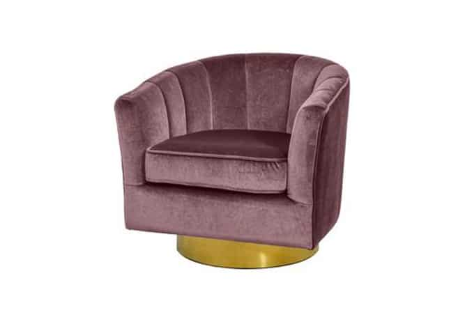 Cassi Occasional Chair-Rose/Gold